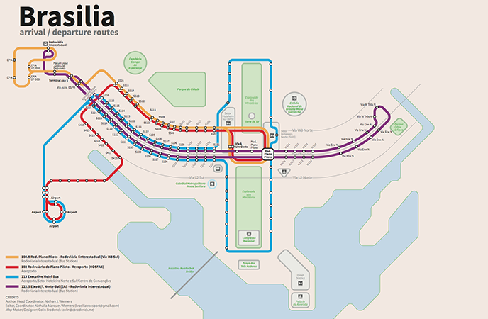 Brasilia Transport Map and Guide