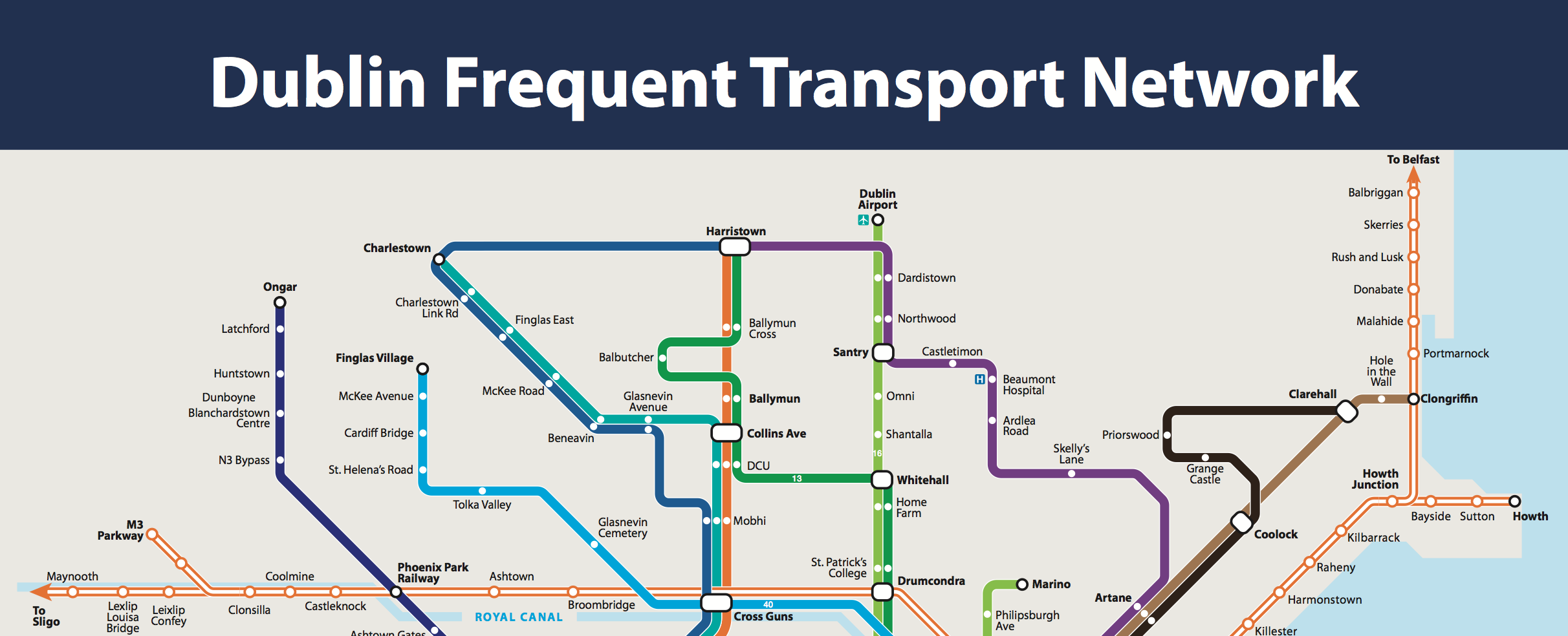 Dublin Frequent Transport Map